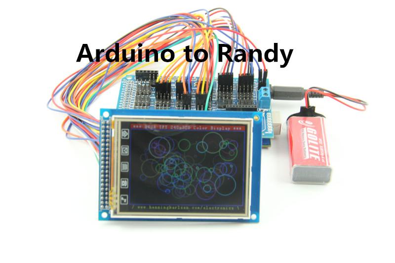 arduino学习笔记 - mega 2560 tft3.2寸屏的演示实验